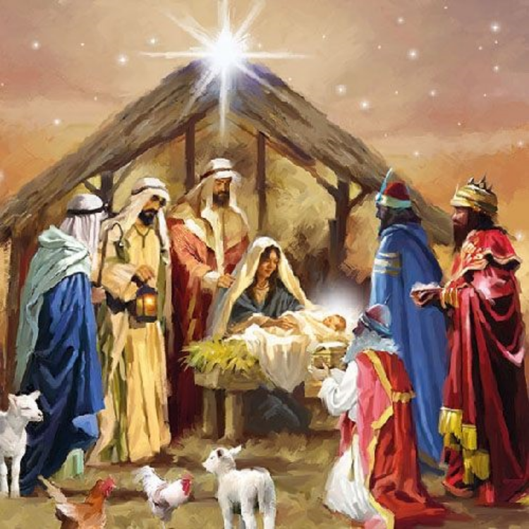 AMB.33310785 Nativity Collage papírszalvéta 33x33cm,20db-os