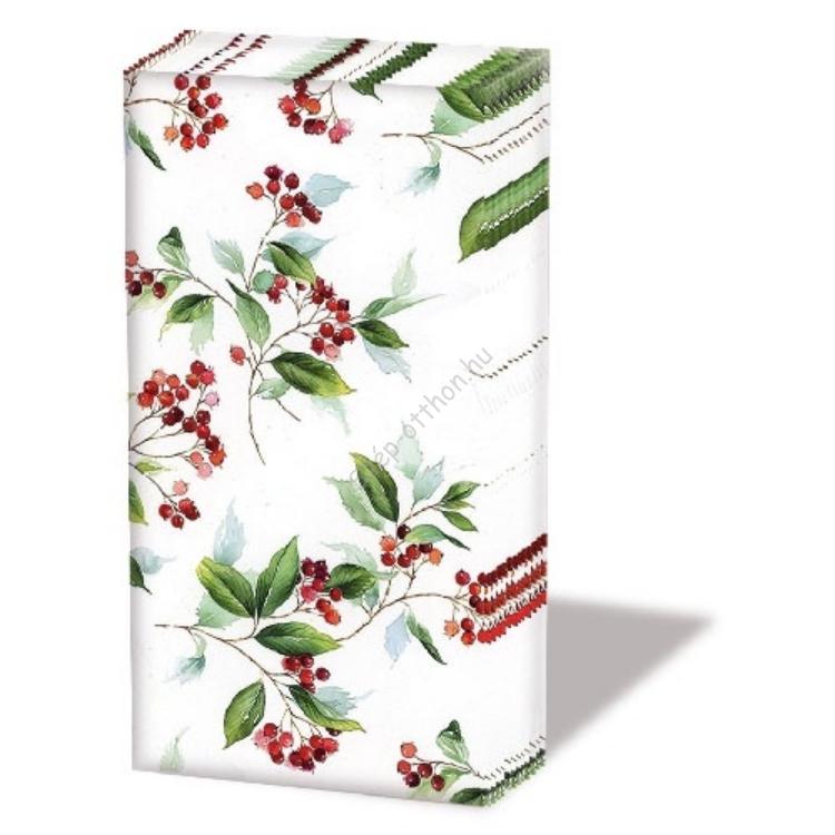 AMB.32210505 Winter Foliage Papírzsebkendő,10db-os