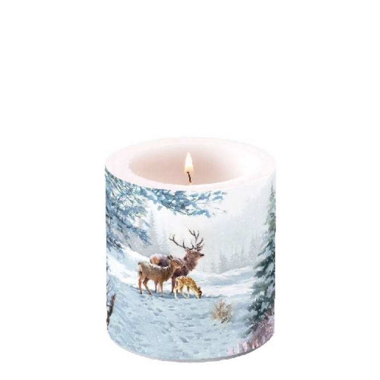 AMB.39210565 Deer Family átvilágítós gyertya 8x7,5cm
