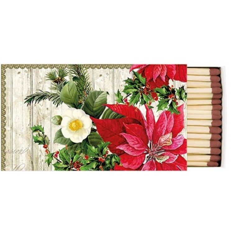 AMB.39510540 Poinsettia On Wood gyufa