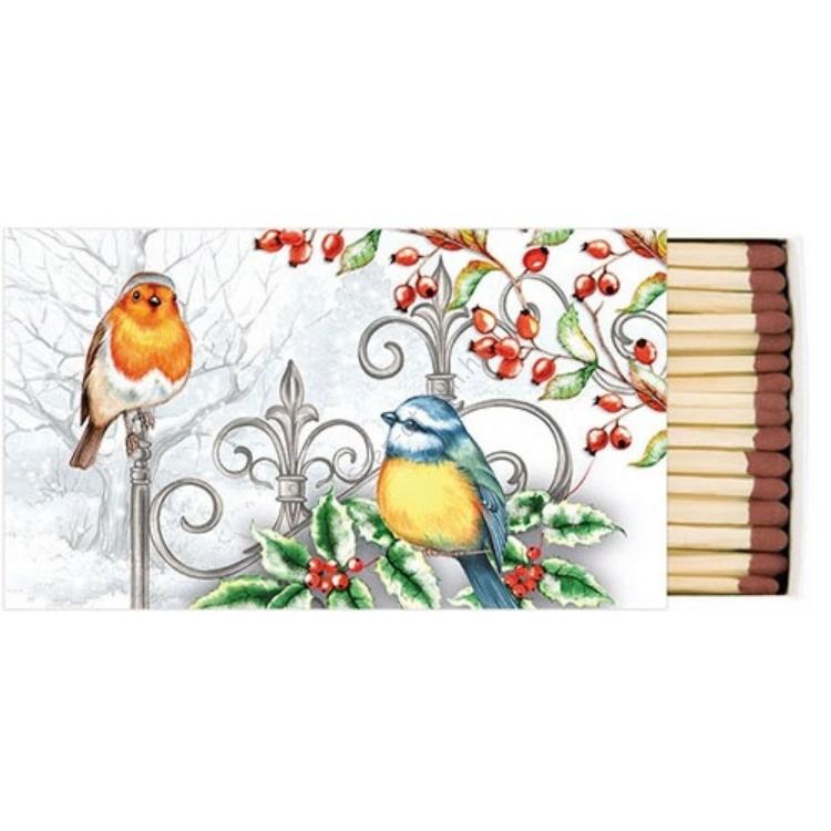 AMB.39510535 Birds & Holly gyufa