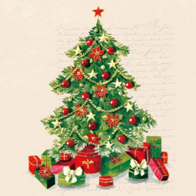 AMB.33304985 Christmas Tree papírszalvéta 33x33cm,20db
