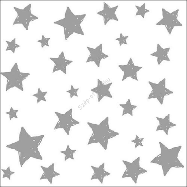 AMB.33310872 Swirling Stars Silver Papírszalvéta 33x33cm,20db-os