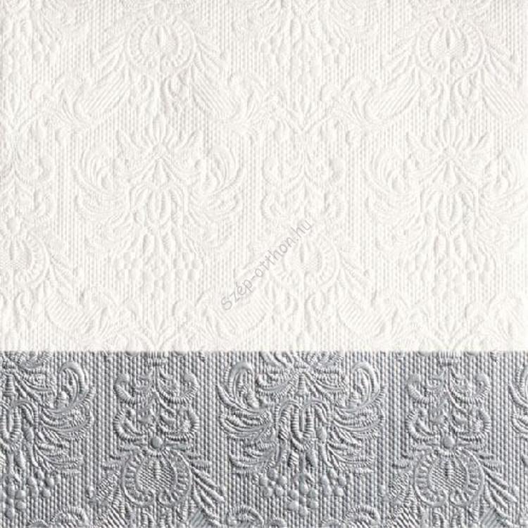 AMB.13311151 Elegance Dip Silver papírszalvéta 33x33cm,20db-os