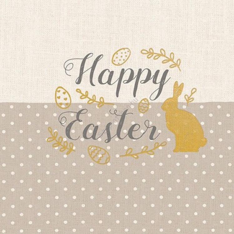 AMB.23311721 Embroidery Easter taupe papírszalvéta 33x33cm,20db-os