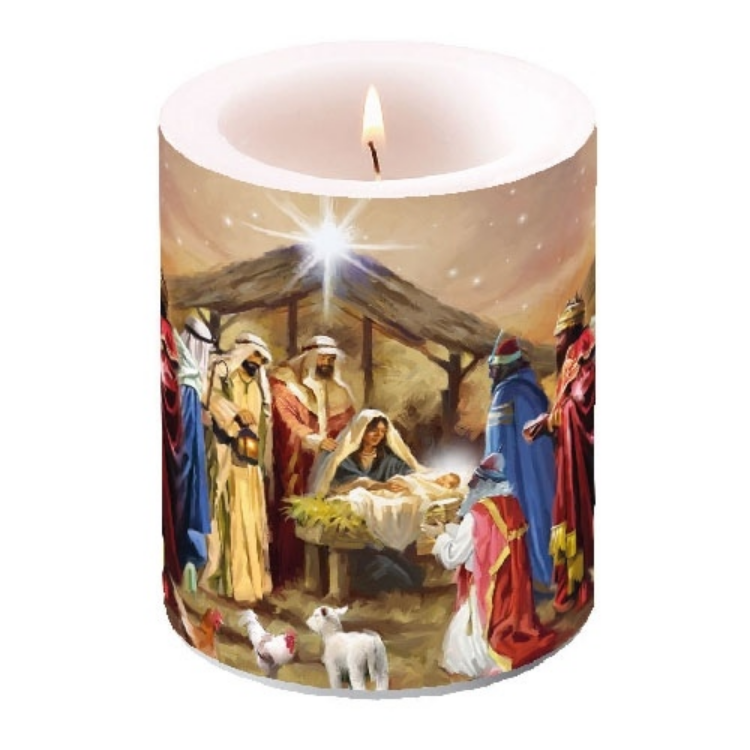 AMB.39110785 Nativity Collage átvilágítós gyeryta 12x10cm