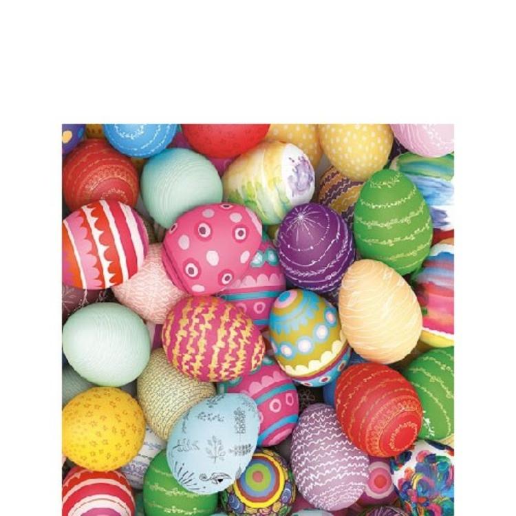 AMB.22514285 Colourful Eggs papírszalvéta 25x25cm, 20db-os
