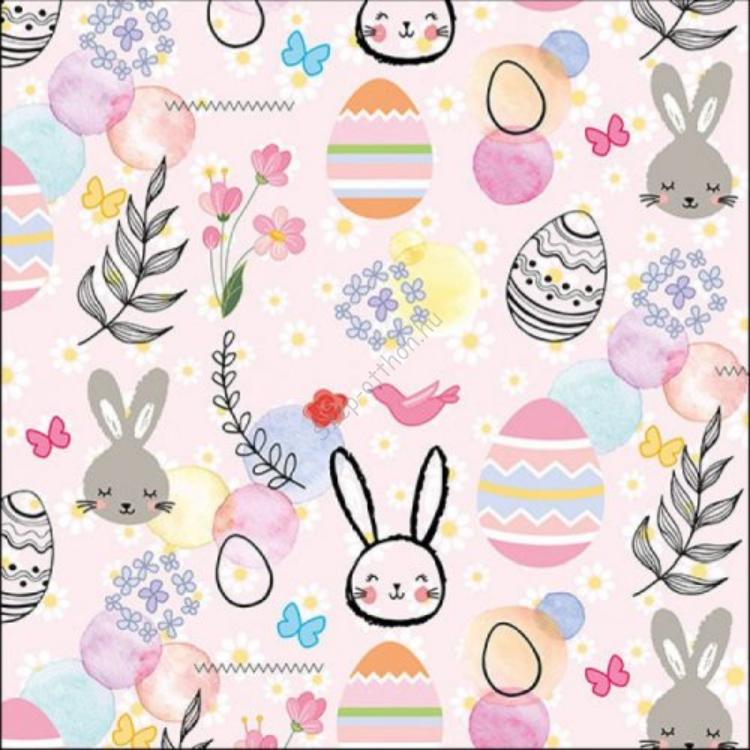 AMB.23314885 Happy Easter Grey papírszalvéta 33x33cm, 20db-os