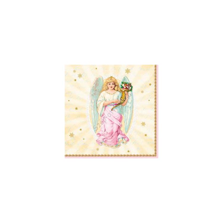 AMB.33303610 Holy Angels papírszalvéta 33x33cm,20db-os
