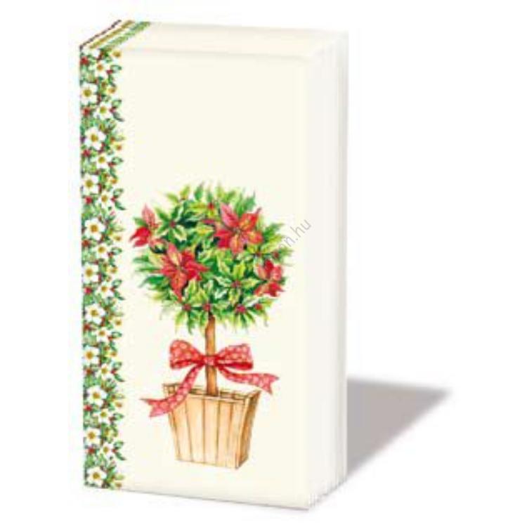 AMB.32203560 Pointsetta Tree papírzsebkendő,10db-os