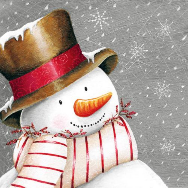 AMB.33303630 Smiling Snowman papírszalvéta 33x33cm,20db-os