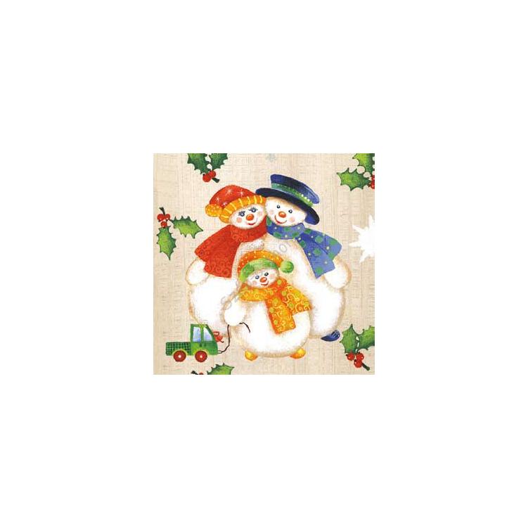 AMB.33303775 Snowman Family papírszalvéta 33x33cm,20db-os