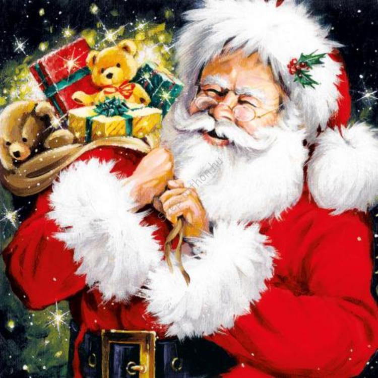 AMB.33303760 Santa With Gifts papírszalvéta 33x33cm,20db-os