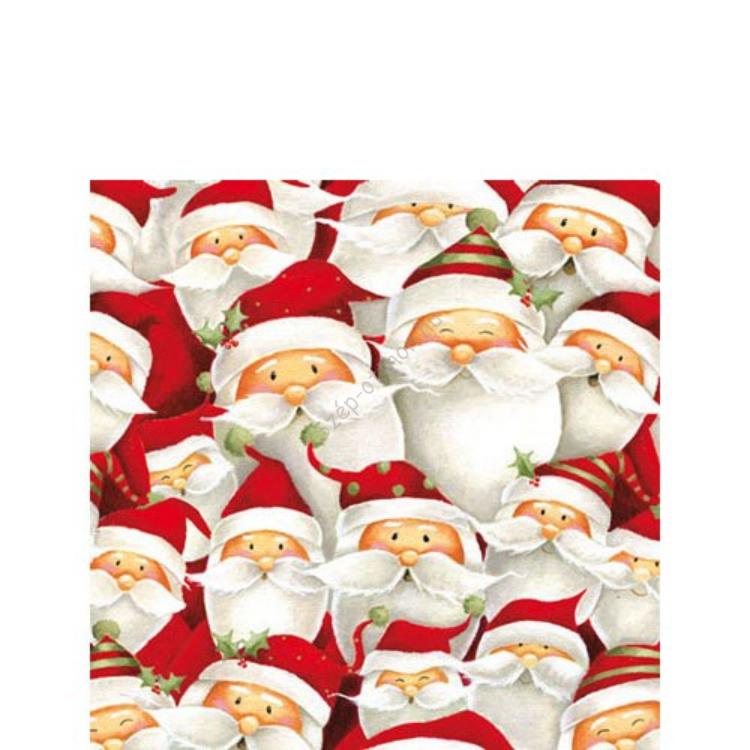 AMB.32503680 Funny Santa papírszalvéta 25x25cm,20db-os