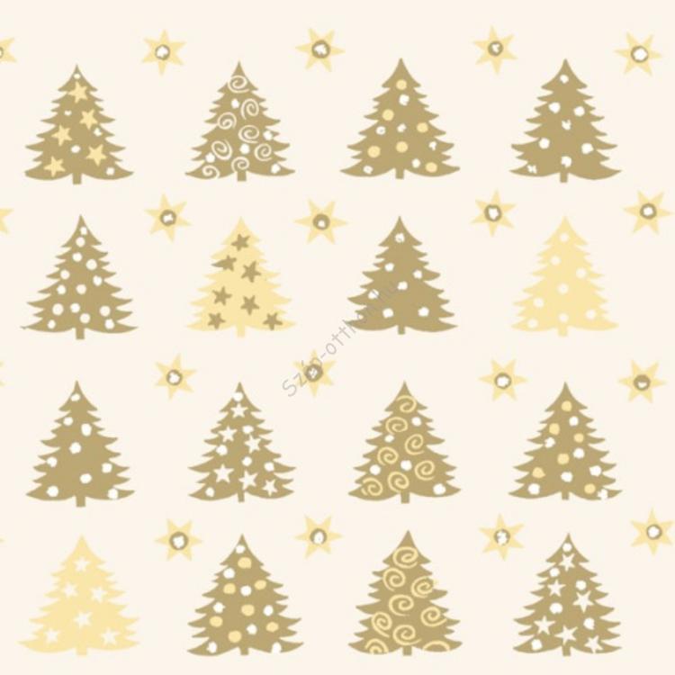 AMB.33303757 Forest Of Trees cream/gold papírszalvéta 33x33cm,20db-os