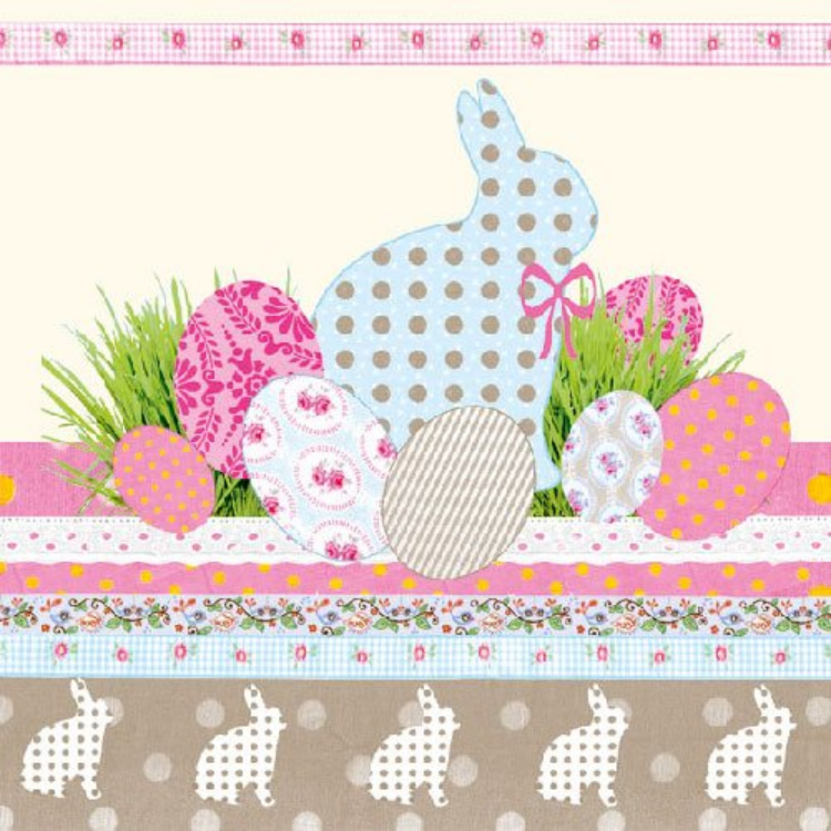 AMB.23301526 A Touch of Easter cream papírszalvéta 33x33cm,20db-os