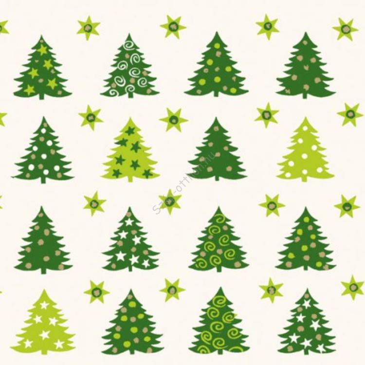 AMB.33303758 Forest Of Trees green papírszalvéta 33x33cm,20db-os