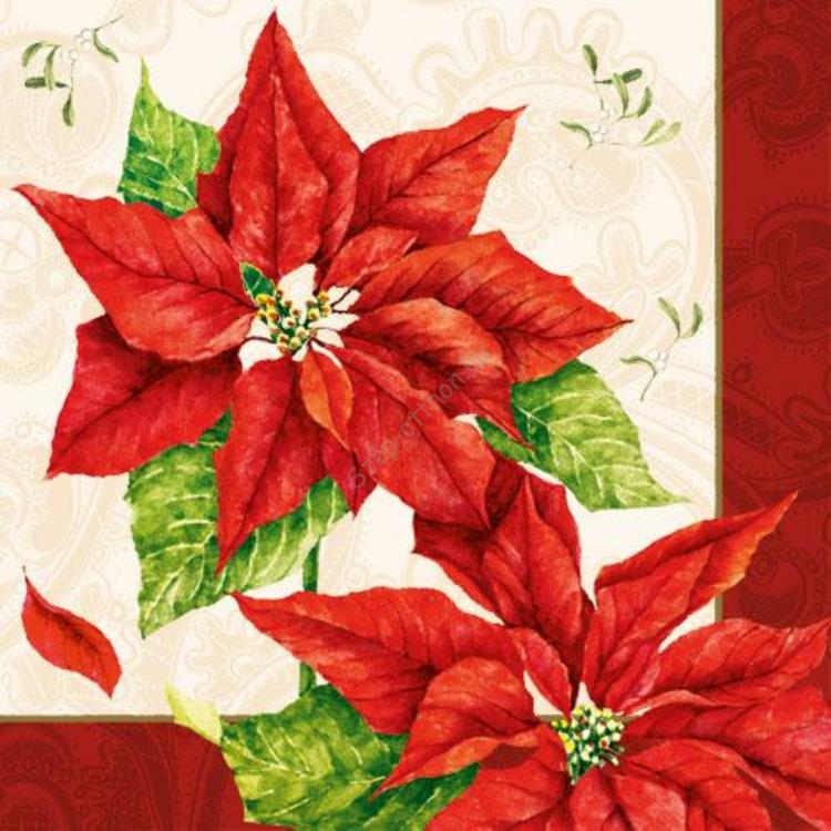 AMB.33303036 Christmas Time red papírszalvéta 33x33cm,20db-os