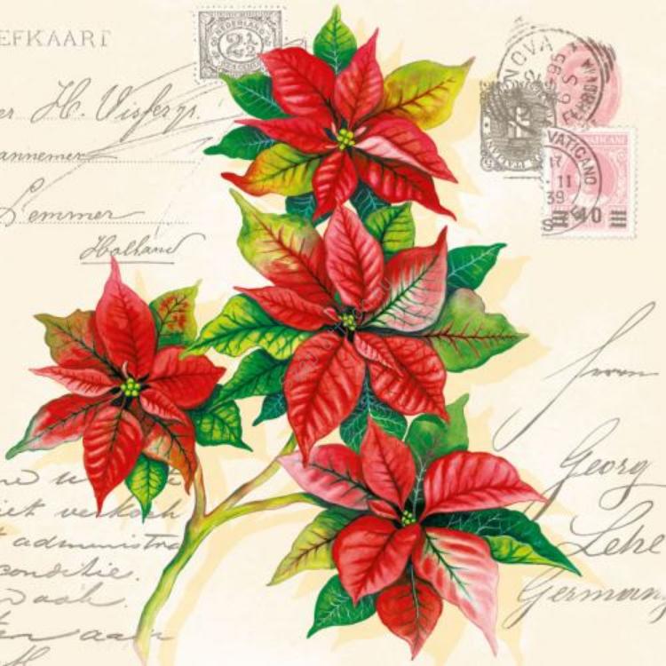 AMB.33303310 Christmas Greetings papírszalvéta 33x33cm,20db-os