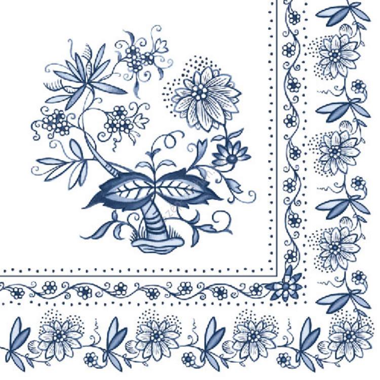 AMB.13306200 Blue onion papírszalvéta 33x33cm,20db-os