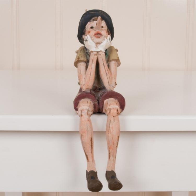 Clayre & Eef 6PR0149 Dekor Pinokkió figura 14x8,5x29cm,ülő-könyöklős