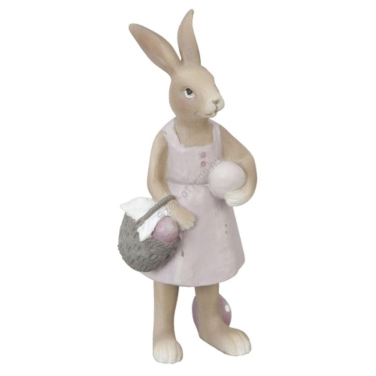 Clayre & Eef 6PR0311 Nosztalgia dekor figura nyúl, 6x5x14cm,lány