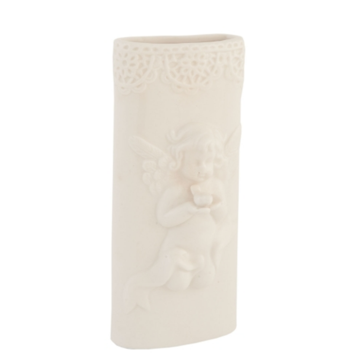 Clayre & Eef 6CE0130 Porcelán szobai párologtató angyalos,7x2x16cm