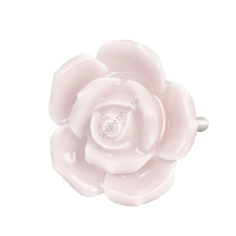 Clayre & Eef 61870 Ajtófogantyú 4,5cm,rózsaszín rózsa