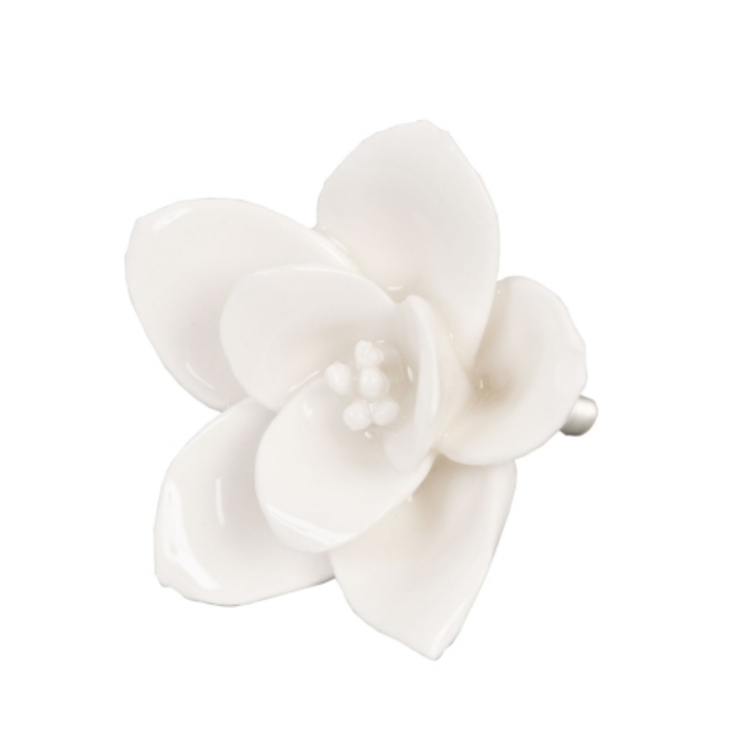 Kerámia Virág Ajtófogantyú Krém
