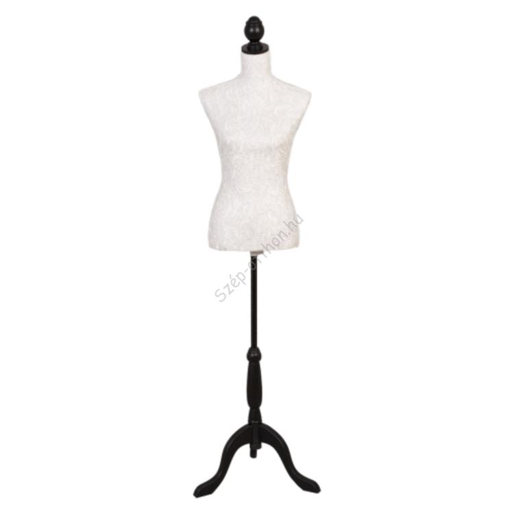 Clayre & Eef BU0011 Próbababa textil bevonatú 37x22x168cm,csipkés