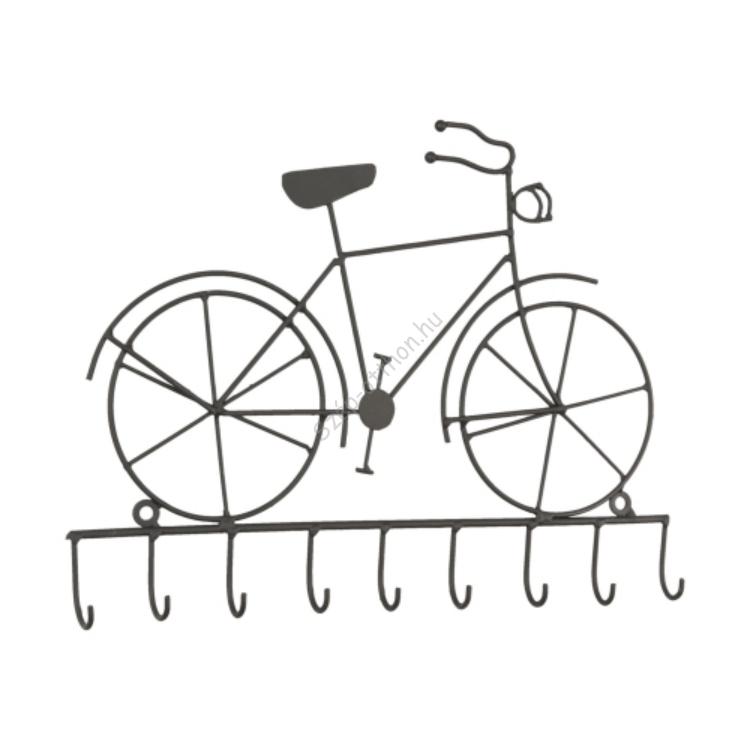 Clayre & Eef 6Y1385 Fém kulcstartó fogas, bicikli 32x23cm
