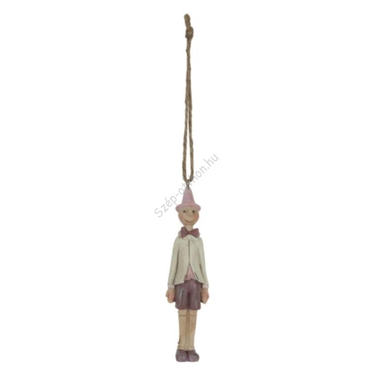 Clayre & Eef 6PR0654 Dekor függő figura 3x3x11cm,Pinokkió