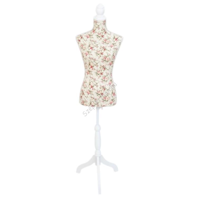 Clayre & Eef BU0025 Próbababa textil bevonatú 40x24x168cm, rózsás