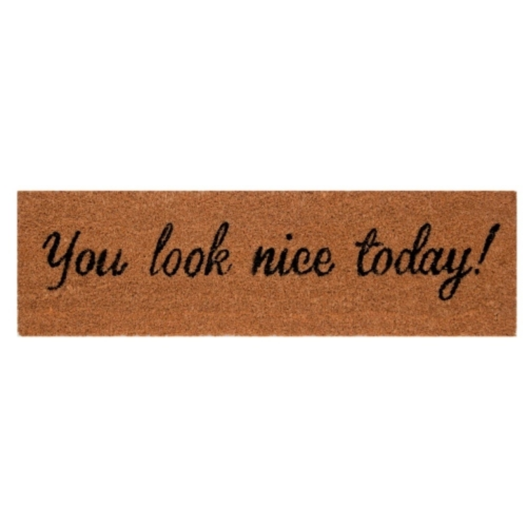 "Clayre & Eef MC114 Lábtörlő 75x22cm,""You Look Nice Today"""