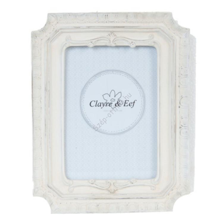 Clayre & Eef 2F0344 Képkeret műanyag 22x17cm,krém
