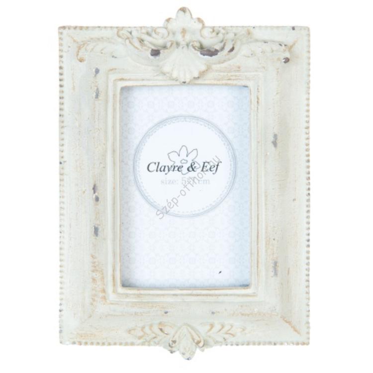 Clayre & Eef 2F0363 Képkeret műanyag 17x12cm,antikolt