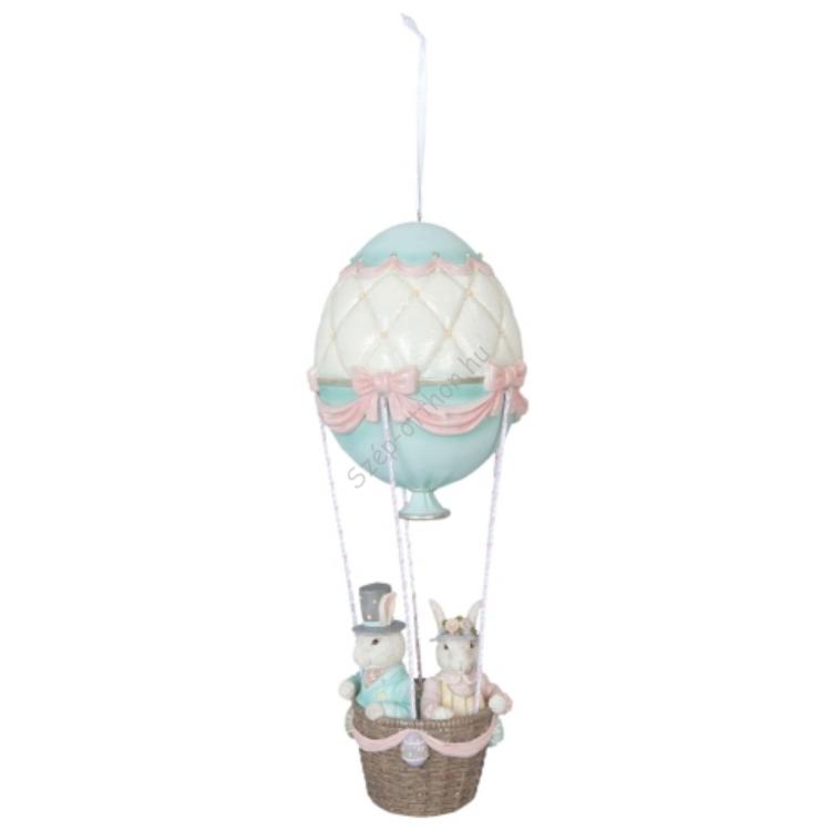 Clayre & Eef 6PR1069 Nosztalgikus dekornyuszik légballonban, müanyag, 18x18x46cm
