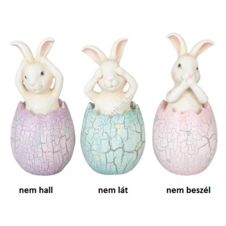 Clayre & Eef 6PR1043 Dekor nyuszi tojásban 6x13cm
