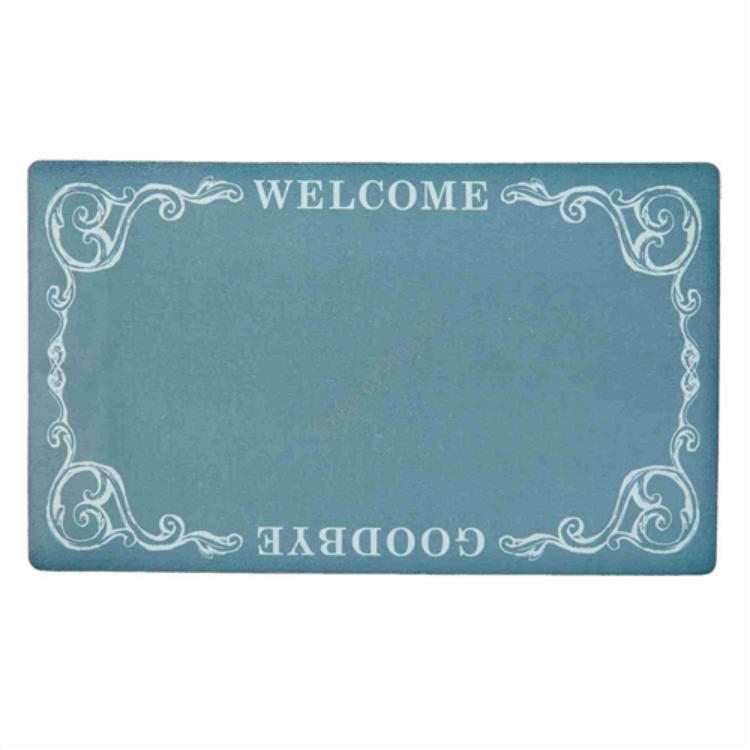 """Clayre & Eef BGAMC Előszoba belépő 74x44cm, zöld, """" Welcome-Goodbye"""