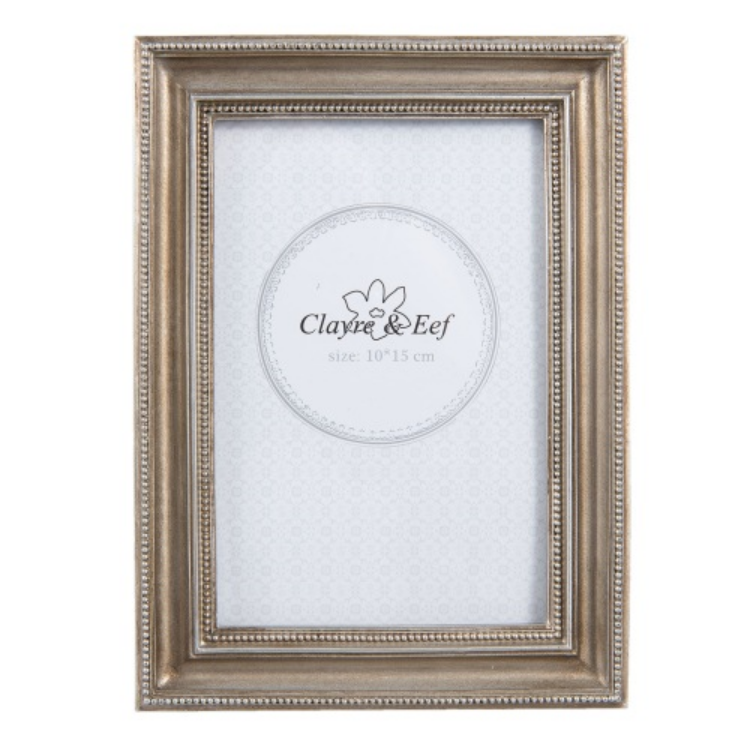 CLEEF.2F0504 Képkeret 14x19cm / 10x15cm, műanyag, ezüstös kerettel