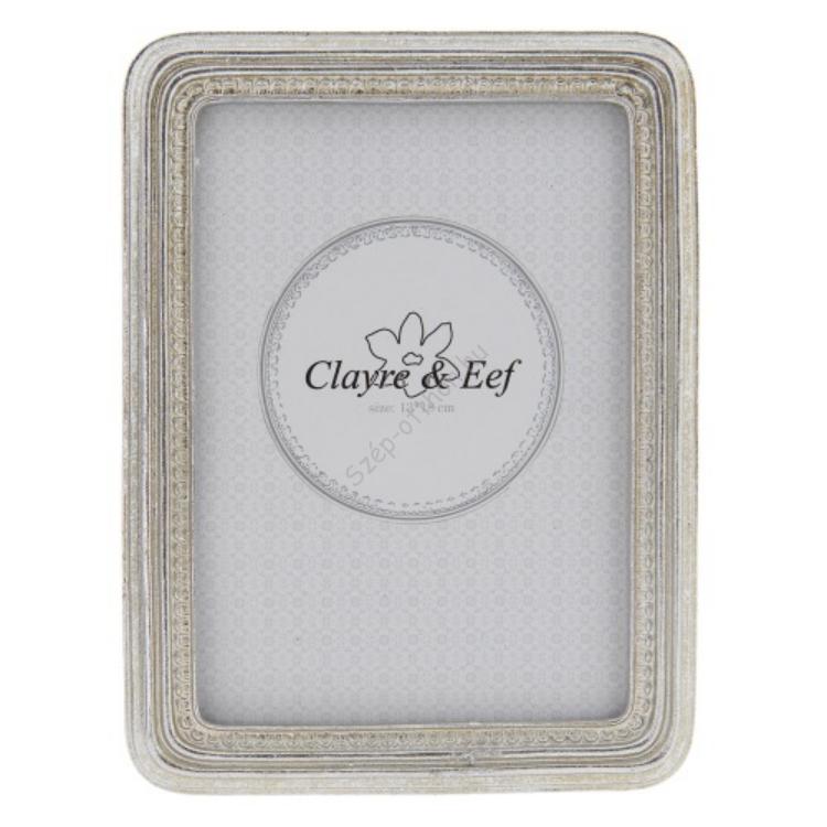 Clayre & Eef 2F0514L Képkeret műanyag 15x25cm/15x18cm, ezüst