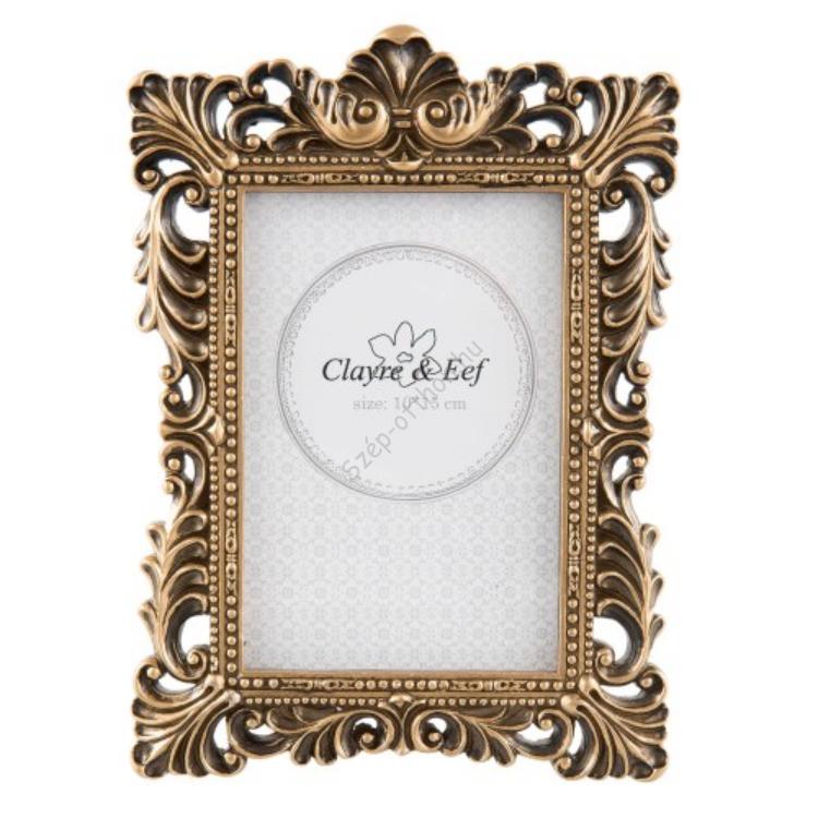 Clayre & Eef 2F0532S Képkeret műanyag 14x18cm / 9x13cm antik arany