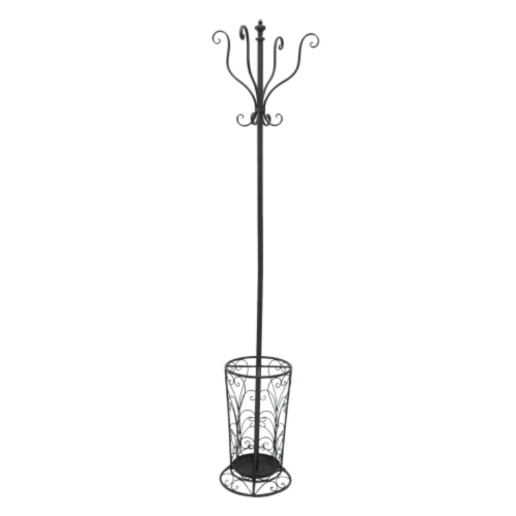 W.5Y0421 Álló fémfogas esernyőtartóval 35x35x189cm, fekete