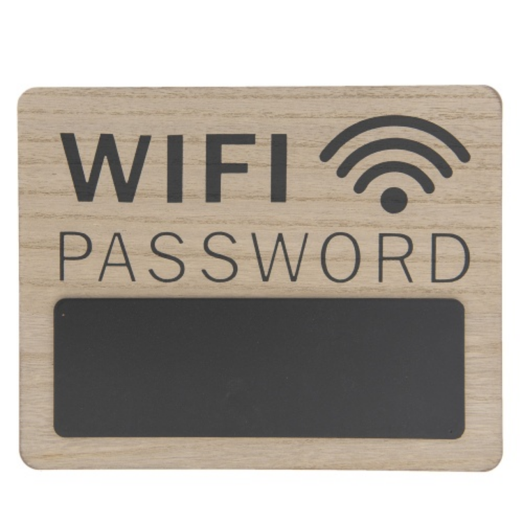 Clayre & Eef 6H1726 Fatábla 30x1x24cm, Wifi Password
