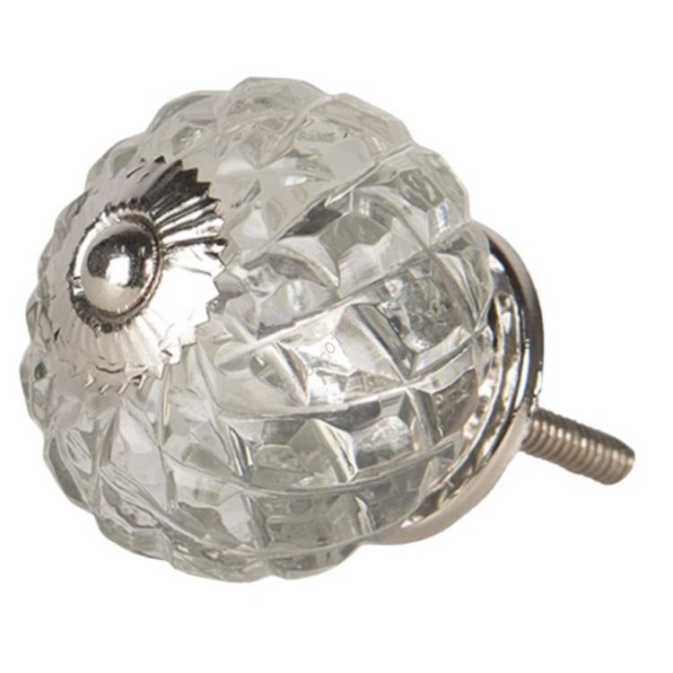 CLEEF.64515 Ajtófogantyú üveggömb 4x4cm