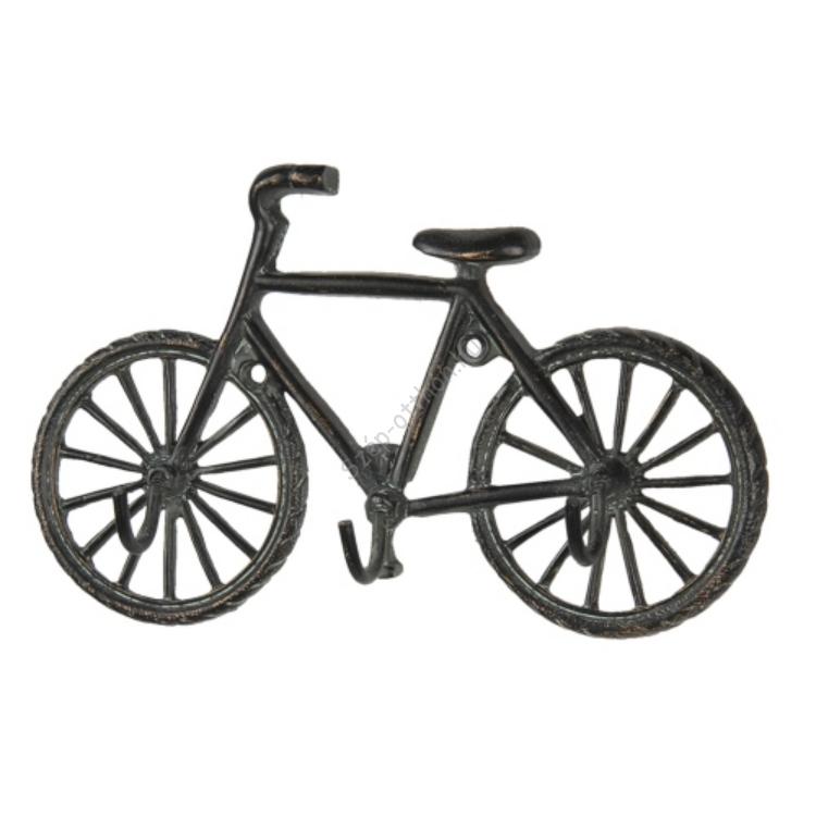 CLEEF.6Y3947 Bicikli alakú öntöttvas falifogas 19x4x12cm