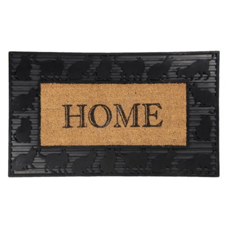 Lábtörlő Home cicás kókusz-PVC, 75x45x2cm