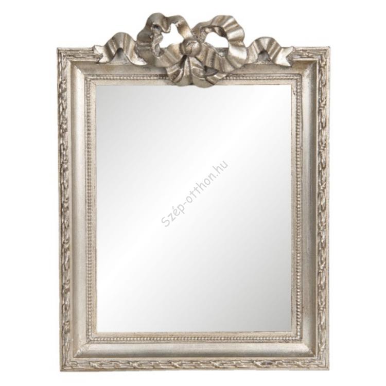 Ezüstös fakeretes tükör masnis, 25x2x34cm