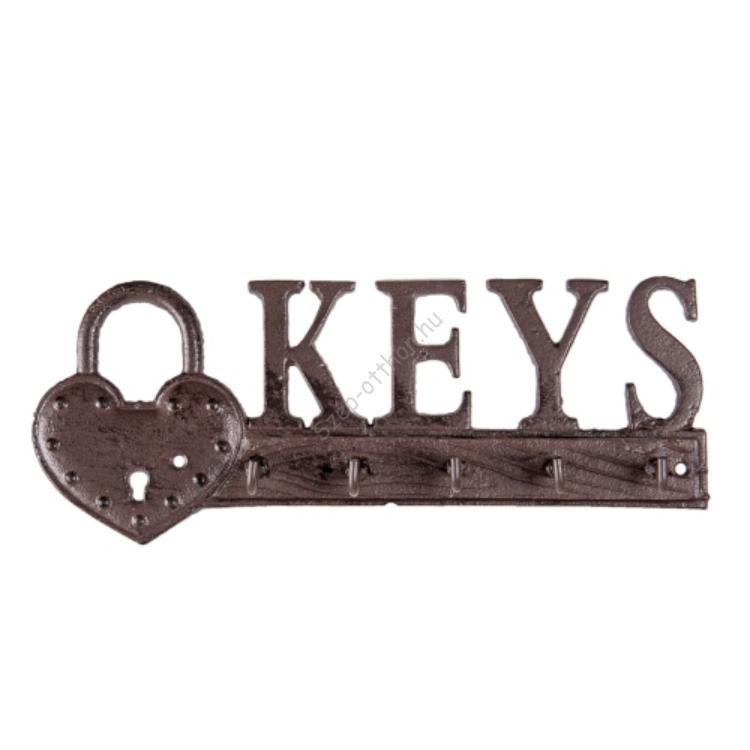 Öntöttvas fali kulcstartó
