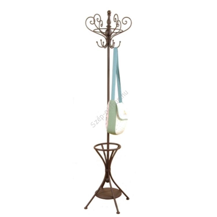 Clayre & Eef 40067 Álló fémfogas esernyőtartóval 50x50x180cm,barna